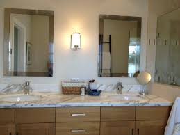bathroom mirror ideas bronze towel hanger beige round bathroom