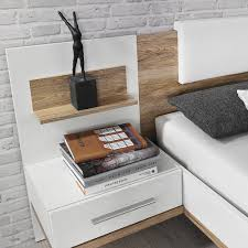 Schlafzimmer Bett 160x200 Doppelbett Bett 160x200 Cm Bustas Mit Nachttischen Eiche Sanremo