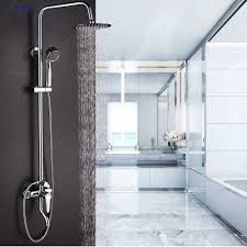 popular shower gold buy cheap shower gold lots from china shower dofaso brand mixer for bath square shower hotel brass bath tub faucet with hand shower and