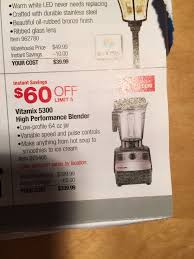 vitamix black friday deals brand new vitamix 5300 costco 340 before tax slickdeals net