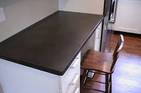 black concrete counter tops traditional kitchen tampa by