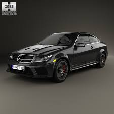 3d class price mercedes c class 63 amg coupe black series 2012 3d model max