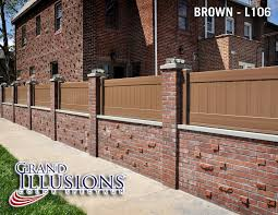 where can i get brown vinyl privacy fence bricks walls and