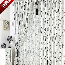 Black And White Thermal Curtains Modern Black And White Stripe Curtains Buy White Print Eco
