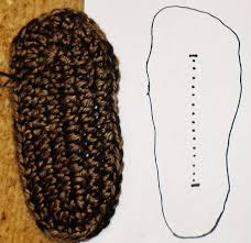 womens slipper boots size 9 crochet slipper boot sole tutorial part 1