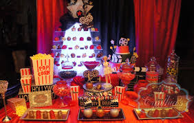 hollywood candy buffet dessert table hollywood theme party