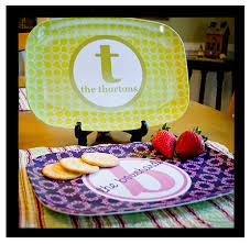 monogrammed platters and trays melamine platter personalized serving tray custom platter
