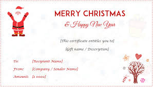 24 christmas u0026 new year gift certificate templates