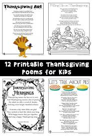 thanksgiving poems woo jr activities