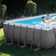Hidden Patio Pool Cost by Amazon Com Intex Rectangular Ultra Frame Pool Set 24 Feet By 12