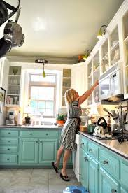 Just Cabinets And More by Beautifully Colorful Painted Kitchen Cabinets Turquoise