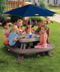 little tikes easy store picnic table little tikes easy store picnic table with umbrella 44 99 shipped
