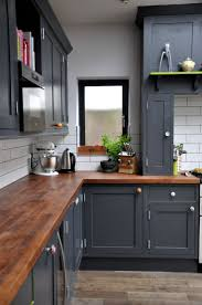 Black Cabinets Kitchen Home Design Matching Blind With Light Grey Built In Cupboards