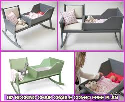 Free Wooden Baby Cot Plans by Diy Rocking Chair Cradle Combo Baby Crib Free Plan