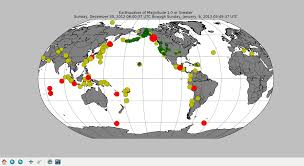 Alaska On World Map by Tsunami Evacuation January 5 2013 Peak 5390