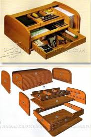 Wood Desk Organizers And Accessories by Tambour Desk Organizer Plans Woodworking Plans And Projects