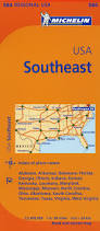 Southeastern Usa Map by Michelin Usa Southeast Map 584 Maps Regional Michelin