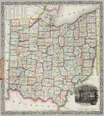 Map Of Ohio State by Railroad U0026 Township Map Of Ohio David Rumsey Historical Map