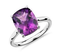 amethyst cushion cocktail ring in 14k white gold 11x9mm blue nile