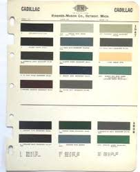 sell 1947 1948 cadillac r m color paint chip chart all models