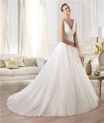 a line princess wedding dress fashion simple a line princess v neck chiffon organza draped