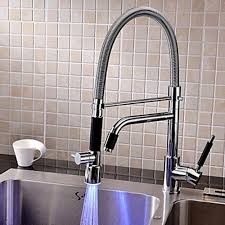 fancy kitchen faucets contemporary led rotatable kitchen faucet chrome finish