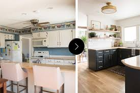 before after a budget conscious kitchen and dining room the 3 800 square foot house was full of carpeted bathrooms wallpaper in every room and loads of outdated finishes when