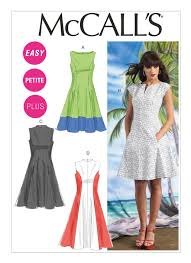 dress pattern fit and flare m6741 misses women s petite lined fit and flare dresses sewing