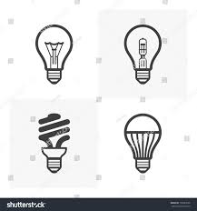 various light bulb icons standard halogen stock vector 192681098