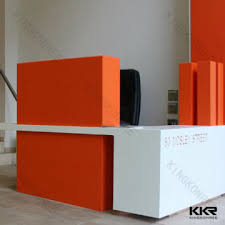 Marble Reception Desk Kkr Reception Desk China Artificial Stone Marble Reception Desk