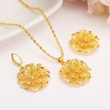 big flower necklace images New dubai india gold color luxurious fashion african big flower jpg
