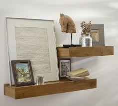 rustic wood shelves pottery barn