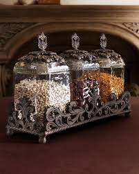 decorative canister sets kitchen gg collection acanthus triple glass canister set gracious goods