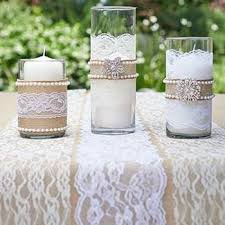 burlap decorations for wedding best 25 lace vase ideas on pearl centerpiece