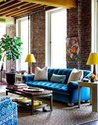 Living Room Blue Sofa Bright Blue Navy Blue Velvet Sofa Big Large Modern Soft High