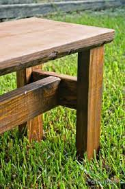 super easy rustic bench rustic bench bench and board