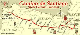 Camino Frances Map by Map Of Santiago De Compostela Map Holiday Travel Holidaymapq Com