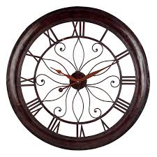 Bombay Home Decor Decorating Oversized Wall Clock With Double Chair And Fireplace