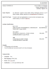 Resume Format For Freshers Pharma Job by Professional Resume Format For Fresher Engineer