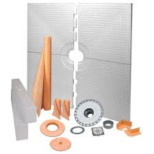 schluter kerdi shower 72 in x 72 in shower kit in pvc with