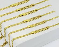baby gold bracelet with name baby name bracelet etsy