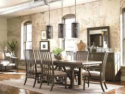 Loggia Rectangular Double Pedestal Dining Table Single Pedestal