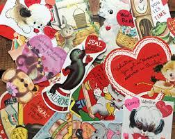 vintage valentines vintage valentines cards etsy