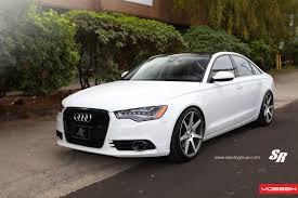 slammed audi a6 white audi a6 customizred and featuring blacked out grille and