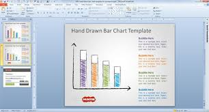 powerpoint chart template free hand drawn bar chart template for