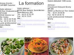 formation cuisine nantes stage de cuisinier stage du 07 02 11 ppt télécharger