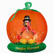 turkey inflatables outdoor thanksgiving yard decorations hubpages