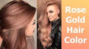 top over the counter hair color rose gold hair color youtube