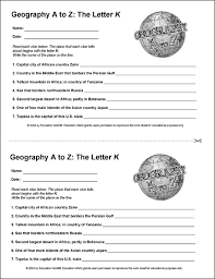 education world geography a to z the letter k
