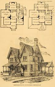 victorian house floor plan 1890 print residence architectural design floor plans victorian